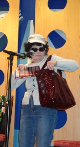Dana Bowman with bag cropped