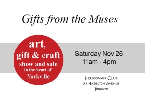 Gift of the Muses Show and Sale